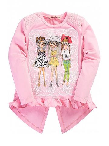 BK981K-1 Кофта для девочек, розовая