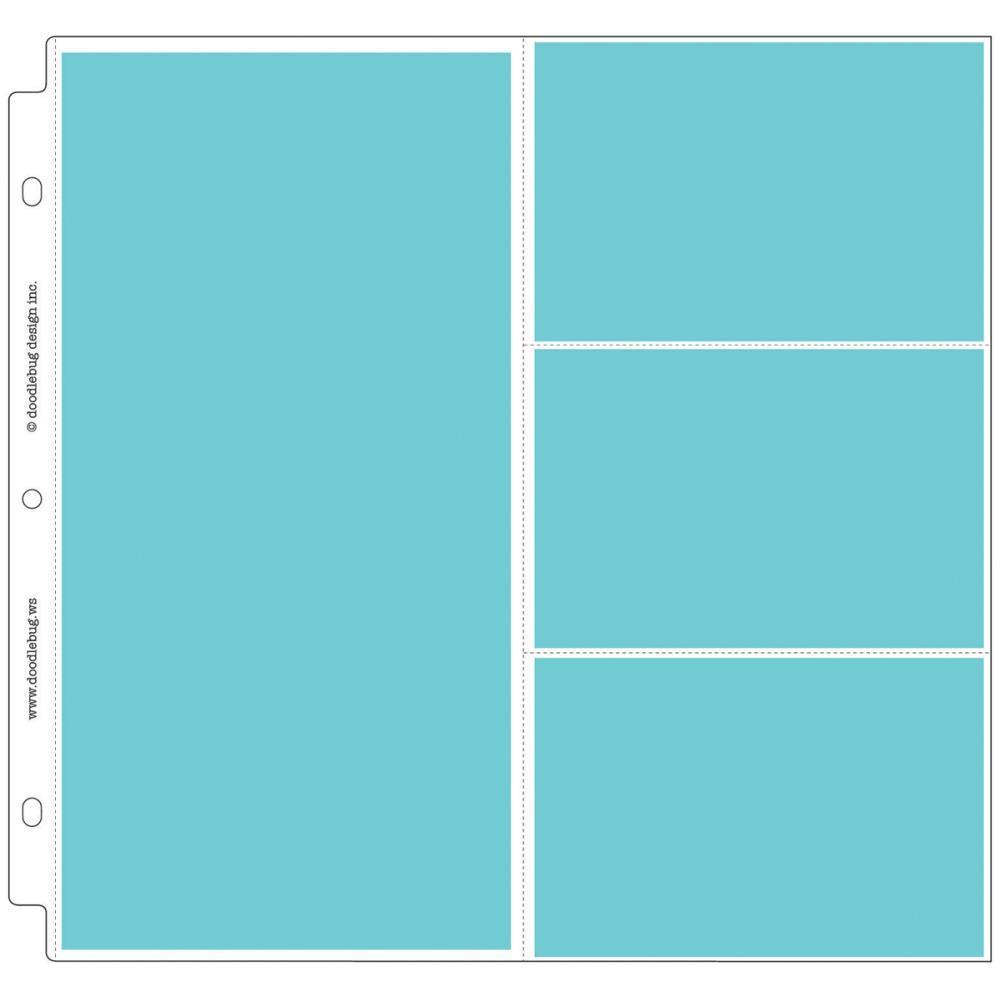 Комплект файлов 30х30см Doodlebug Page Protectors - 25 шт