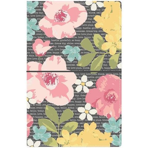 Блокнот (14,5х22 см)- Carpe Diem Traveler's Notebook- Floral, Typewriter