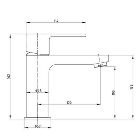 Смеситель E.С.А. Nita 102188034EX для раковины схема