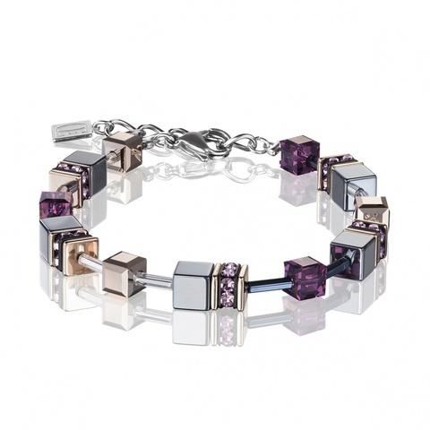 Браслет Coeur de Lion 4015/30-0824 цвет серый, фиолетовый