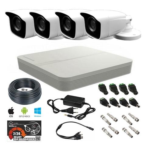 FULL HD комплект видеонаблюдения на 4 уличные камеры