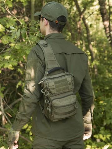 Тактический Рюкзак-Сумка GONGTEX Rover Sling Hexagon Backpack - Олива