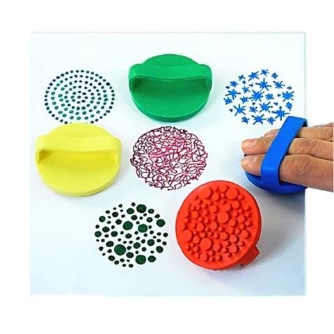 Набор резиновых штампов для творчества, 4 шт.