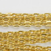 Цепь (цвет - золото) 3х2,5 мм, примерно 10 м