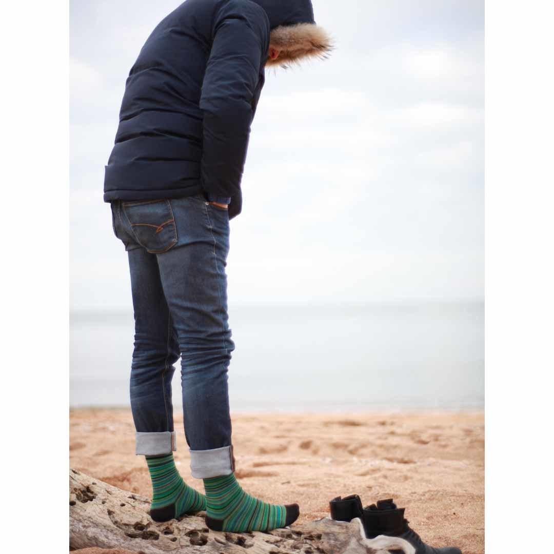 Мужские зеленые носки Marrey Green Land