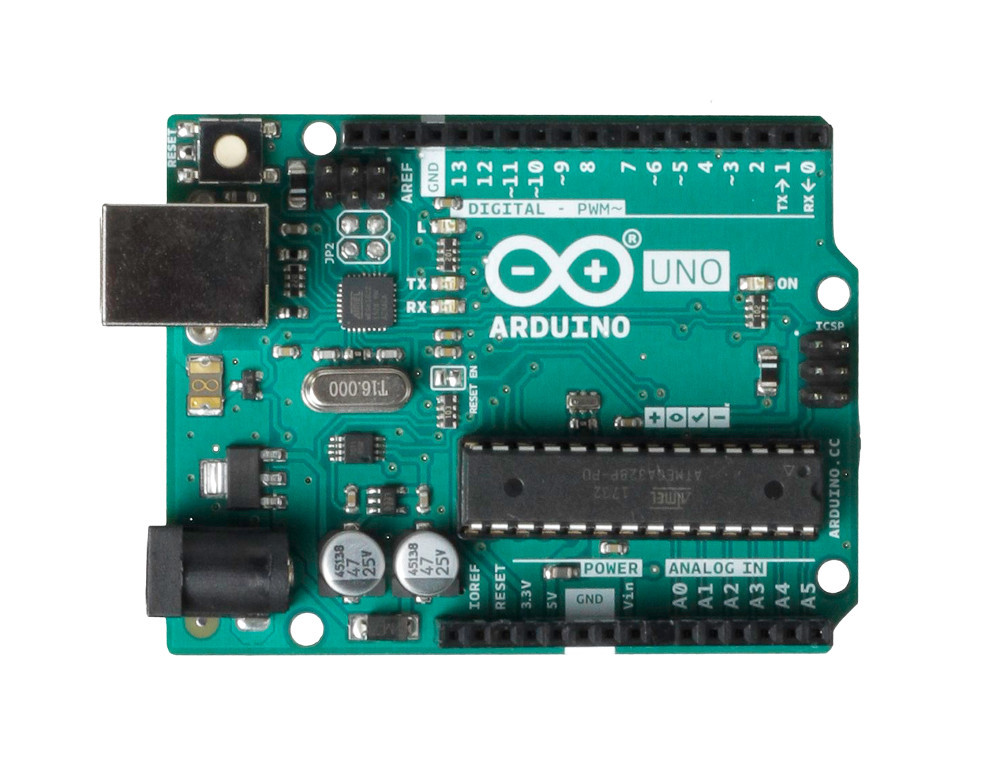 Arduino Uno R3 - вид сверху