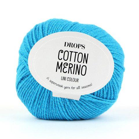 Пряжа Drops Cotton Merino 24 бирюза