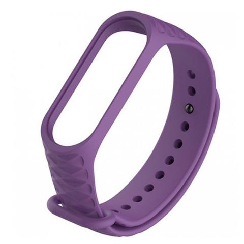 Сменный браслет Xiaomi Mi Band 3 ребристый (Фиолетовый)
