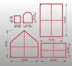 Пряничный домик форма для пряника