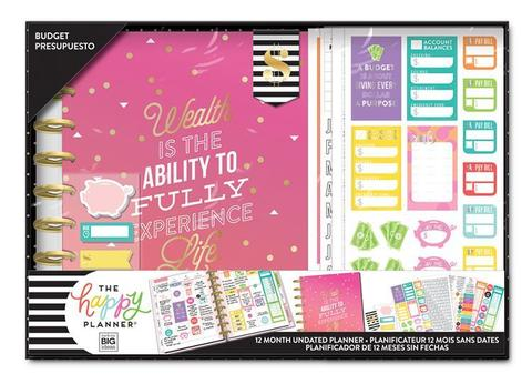 Набор для заполнения ежедневника  + планер Classic Happy Planner® Box Kit - 19,3 х 24,3см. -Wealth (budget)(НЕ датирован)