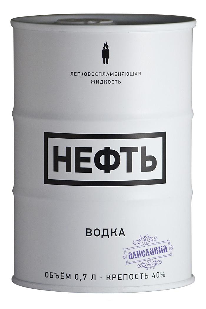 НЕФТЬ БЕЛАЯ. ВОДКА. 0,75 л
