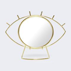 Зеркало настольное Cyclops, золотое Doiy