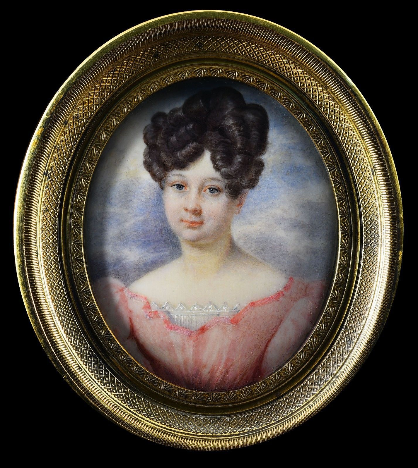 "French (or East European, Russian (?) School). ""Miniature Portrait of a Lady"""