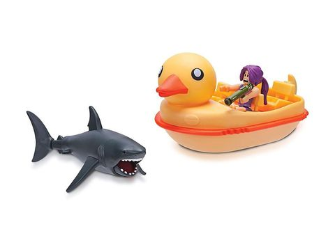 Набор фигурок Роблокс Укус Акулы: Утиная Лодка - Roblox Sharkbite: Duck Boat, Jazwares
