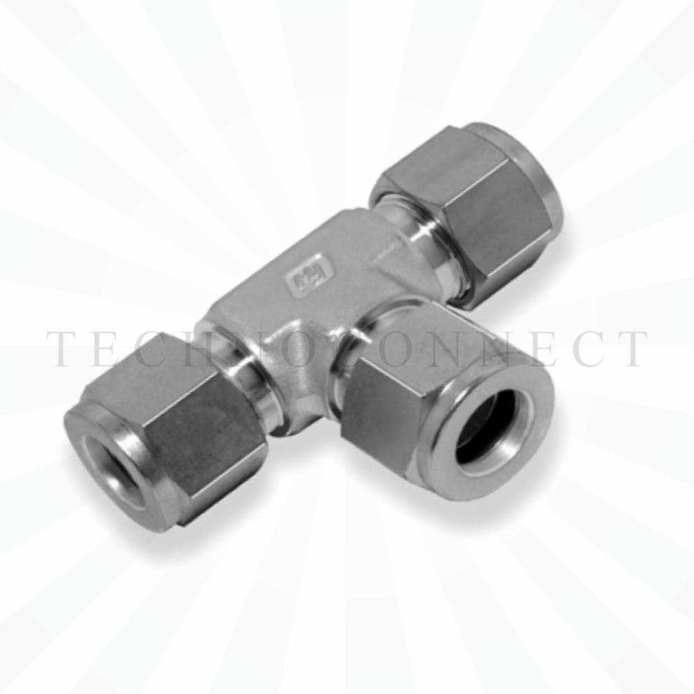 CTA-10M  Тройник равнопроходной: метрическая трубка 10 мм