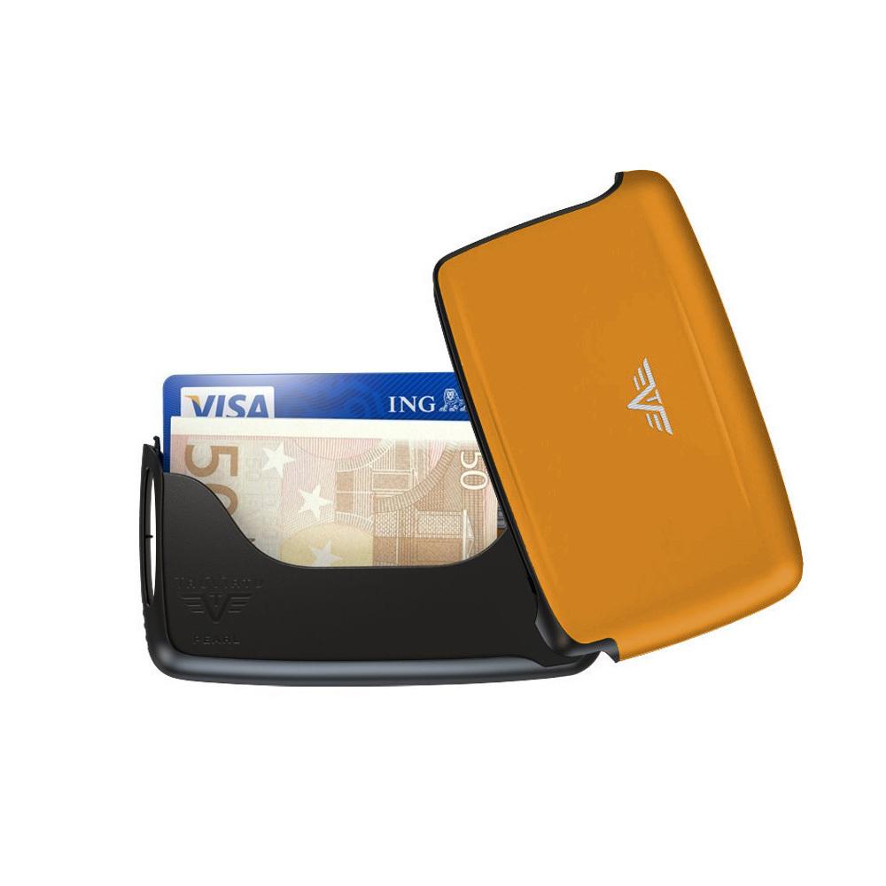 Визитница c защитой Tru Virtu PEARL, цвет оранжевый , 104*67*17 мм