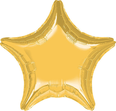 Воздушный шар Звезда (Золотая)