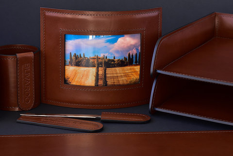 Рамка для фотографий BUVARDO LUX из кожи Full Grain Toscana Tan
