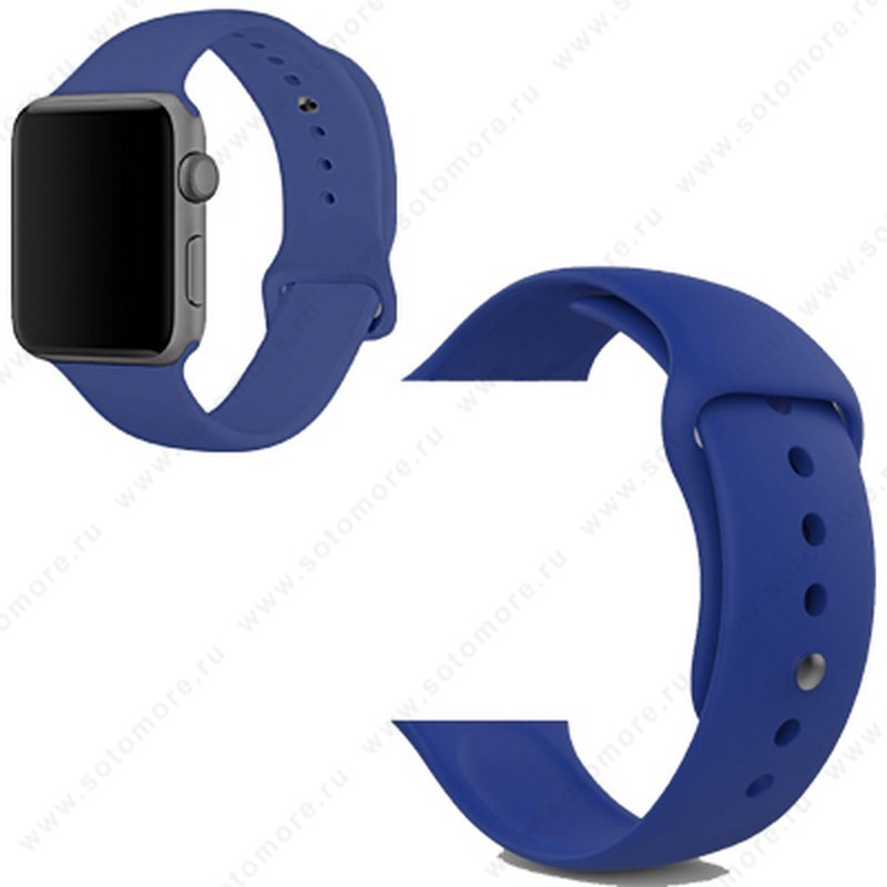 Ремешок для Apple Watch 38/ 40 mm силиконовый синий