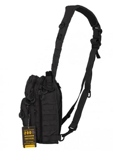 Тактический Рюкзак-Сумка GONGTEX Rover Sling Hexagon Backpack - Черный
