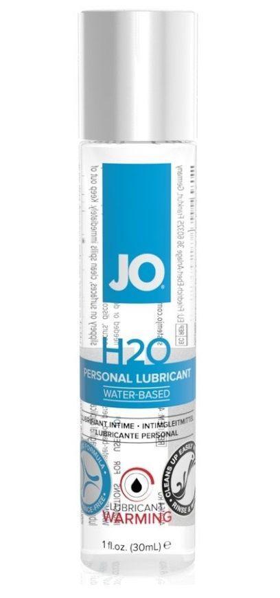 Возбуждающие: Возбуждающий лубрикант на водной основе JO Personal Lubricant H2O Warming - 30 мл.