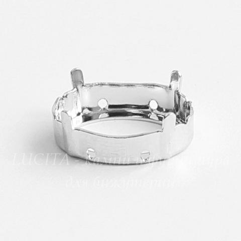 4120/S Сеттинг - основа для страза 18х13 мм (цвет - античное серебро)