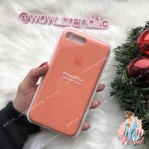 Чехол iPhone 7+/8+ Silicone Case /peach/ персик original quality