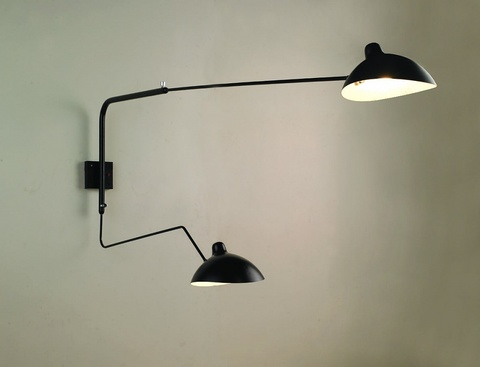 Serge Mouille wall lamp  2 Arms