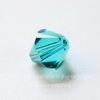 5328 Бусина - биконус Сваровски Blue Zircon 8 мм