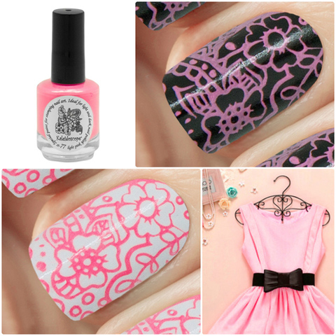 Kaleidoscope Лак для стемпинга №st-77 Light pink 15 мл