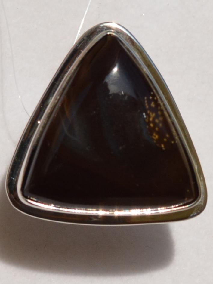 Соколиный глаз Т(кольцо из серебра)