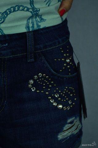 Дизайнерские джинсовые шорты Guess