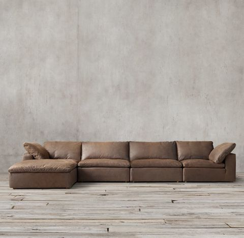 Cloud Modular Leather Sofa Chaise Sectional
