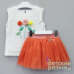 Костюм (вышивка, сетка, кружево)