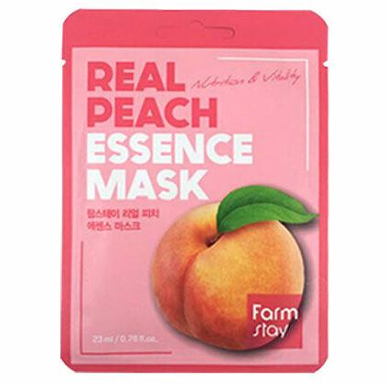 Маска для лица - Персик | FarmStay REAL PEACH ESSENCE MASK