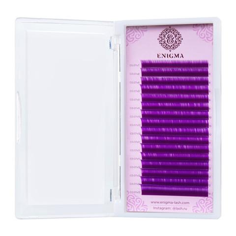 """Цветные ресницы Enigma микс """"Фиолетовый"""" (16 линий)"""