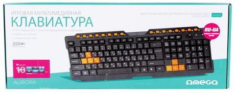 Клавиатура мультимедийная OMEGA OK-26 USB black