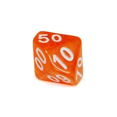 Куб D% прозрачный: Оранжевый