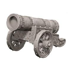 WizKids Deep Cuts Unpainted Miniatures - Large Cannon