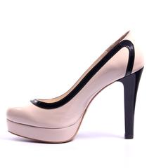 Туфли лаковые пудрового цвета