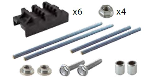 Набор шинных держателей  НШД  2/10 T для 3Р системы шин 30-120 x 10 мм TDM