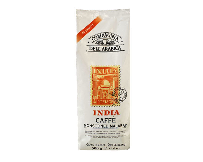 Кофе в зернах Compagnia Dell`Arabica India Monsooned Malabar, 500 г (Компания Дель Арабика)