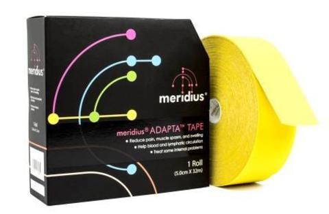 Эластичный спортивный кинезио тейп Meridius 5 см х 32 м, желтый