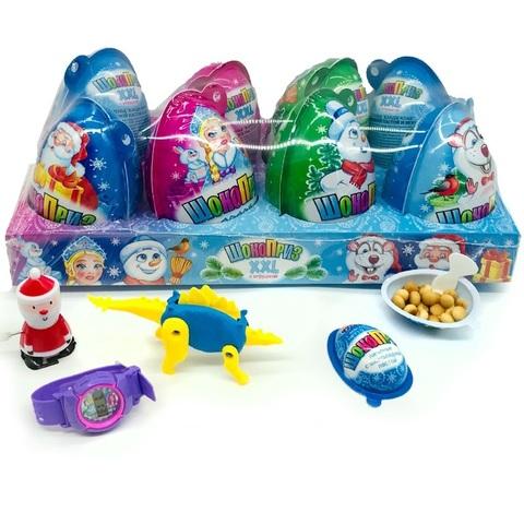 Яйцо ШОКОПРИЗ XXL с игрушкой, шоколадной пастой и печеньем 1кор*6бл*8шт 30гр.