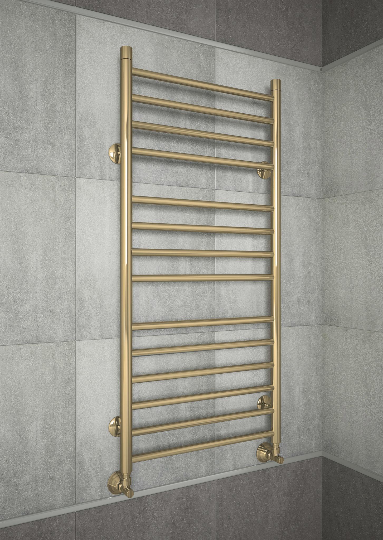 Avrora E- бронзовый электрический полотенцесушитель из нержавеющей стали.