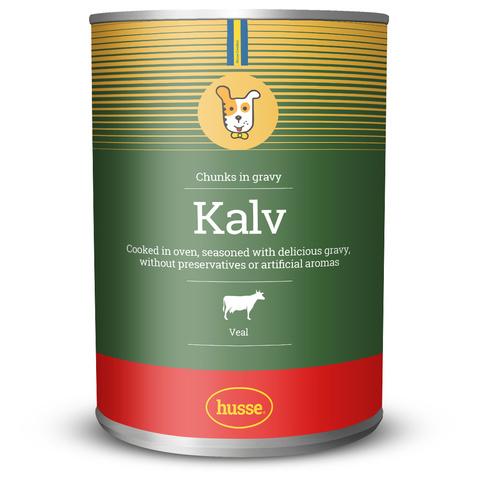 Консервы для взрослых собак Kalv chunks in gravy: 1275 гр