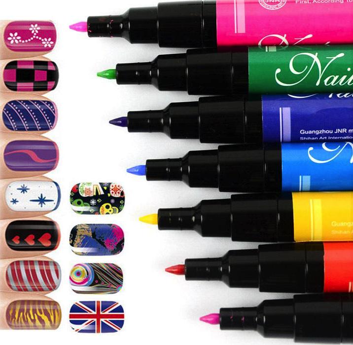 Товары для красоты Набор для дизайна ногтей Nail Art Pens hot_designs_nail.png