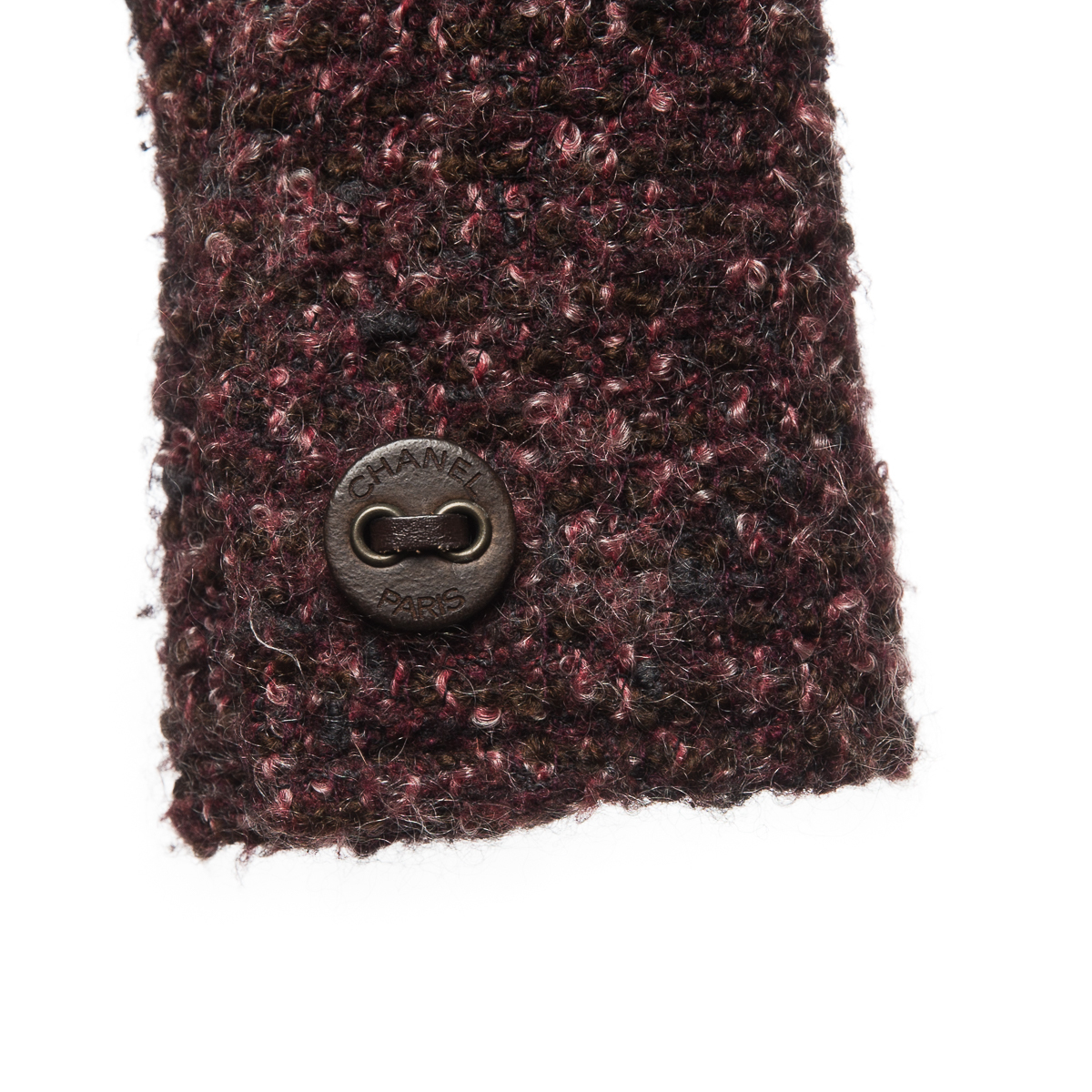 Укороченное пальто из шерсти коричневых оттенков от Chanel, 40 размер.