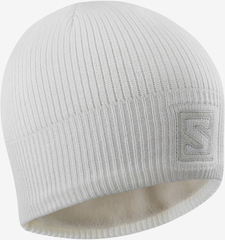 Шапка Salomon Logo Beanie White/Lunar Rock
